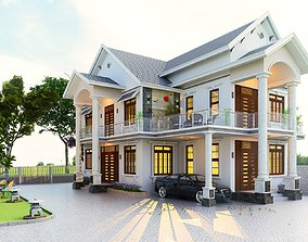 animated house House design 3d model