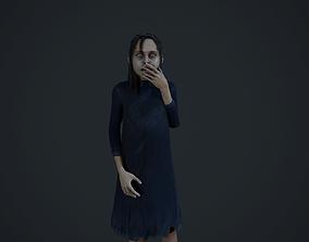 3D asset Creepy girl Horror version 1
