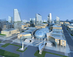 Architecture plaza 3D