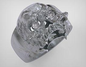 Skull Ring - art 0516 3D print model