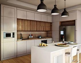 Kitchen Modern Contemporary PBR 3D asset