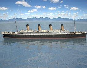 3D RMS Titanic cruise ship