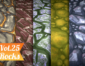 3D model Stylized Rocks Vol 25 - Hand Painted Texture