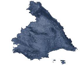 3D print model Spain Relief Map