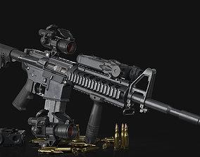 M4A1 Spec-Ops 3D model