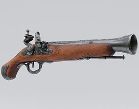 3D model Pirate Flintlock Pistol