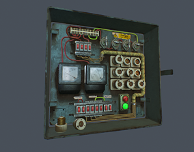 Old Fusebox 3D model animated