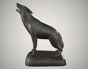 3D model Wooden wolf