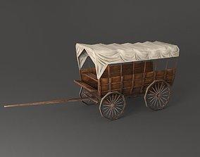 Wild west vagon 3D asset