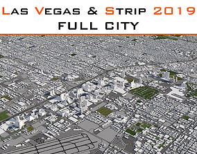 3D Las Vegas and STRIP Full City 2019 low-poly