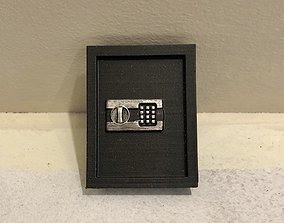 3D printable model 12th Scale Faux Wall Safe for