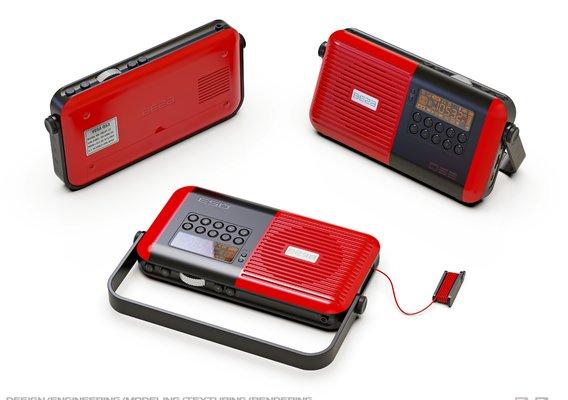 Compact radio.