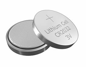 CR2032 Lithium Button Battery 3V 3D model
