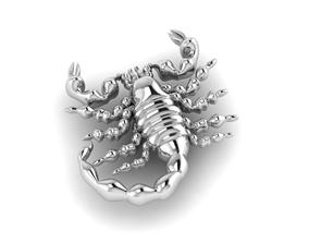 scorpion logo jewelry 3D print model