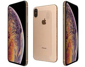 3D model Apple iPhone XS Gold
