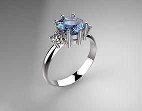 Topaz ring sapphire 3D print model