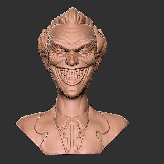 Character - Joker Bust Head Fan Art