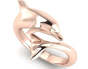 desing 3D print model Dolphin Ring