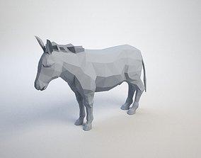 Lowpoly Donkey 3D print model