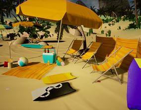 Beach Asset Pack VR / AR ready