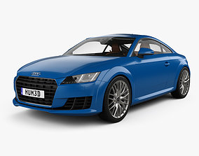 3D model Audi TT coupe with HQ interior 2015