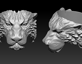 Detailed King Chief Boss Alpha Tiger Ring 3D print model