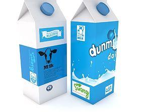 3D model Supermarket Milk Carton