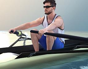 Rick 10721 - Rowing Athlete archviz 3D model