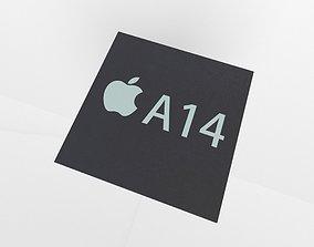 Apple CPU A14 3D model