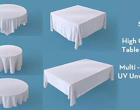 Tablecloth Set Round and Rectangular Table Cloth 3D model