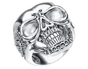 Ring 005 skull 3D printable model