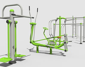 Gym Equipment Outdoor 3D model