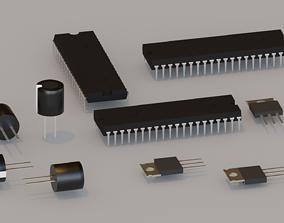3D model Radio Components