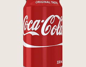 3D asset game-ready Coca Cola Drink Aluminium Can