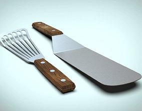 3D Kitchen Spatula and Turner Set spatula