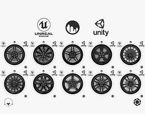 Wheel Dark Alloy Rim Lexus 19 inch Michelin Collection 3D