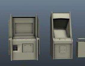 Arcade Machine Set 1 3D