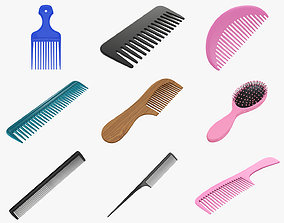 Hair combs 3D PBR