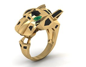 panther Cartier ring 3D print model