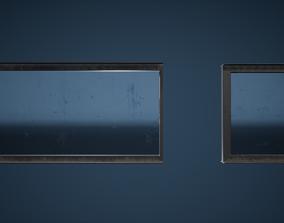 Glass Panel Game Ready 3D asset