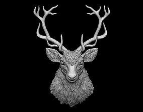 Deer head bas relief 3dprint 3D printable model