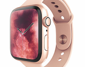 Apple Watch S4 Sport 44mm Gold Aluminum 3D