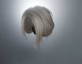 WOMAN HAIR 5 3D model