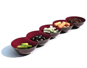 3D Bowl Snack Tray