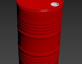 Metal Barrel gallon 3D model