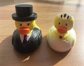 3D print model bridal pair - Duck