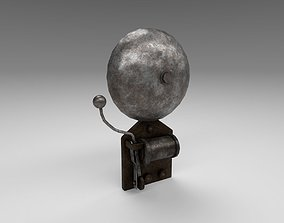3D asset animated Vintage school bell