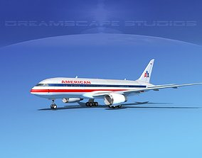 Boeing 787-8 American Airlines 3D