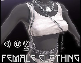 3D asset low-poly Female Clothing