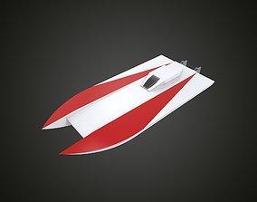 RC boat catamaran 3D print model